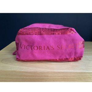 Victoria's Secret Sequin Makeup Cosmetic Bag